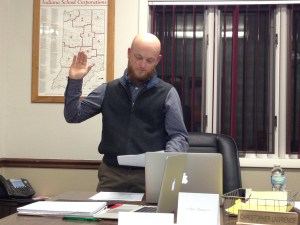 Christopher Lawrance takes oath of office