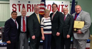 Diego Morales, special assistant to Gov. Pence (keynote speaker), Sen. Ed Charbonneau, new State GOP Chairman Jeff Cardwell (making his first appearance since being named), Brenda Stanojevic (County Chair), Rep. Tom Dermody, Rep. Doug Gutwein, Greg Wireman (winner of the Chairman's Award for 2015)
