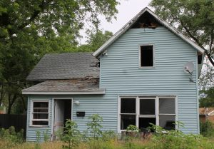 The burned out house at 303 E. John St. in Knox will be torn down with blight elimination grant money.
