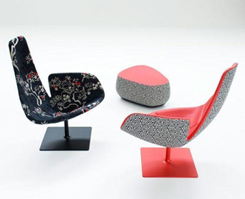 swivel bar chairs twin sleeper chair bed wkworks - fjord armchair relax option designed by patricia urquiola. produced ...