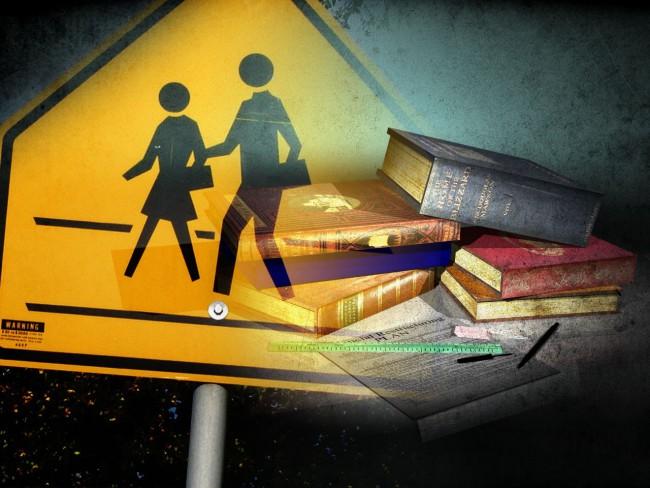 SchoolCrossingSignPlusBooks_137841