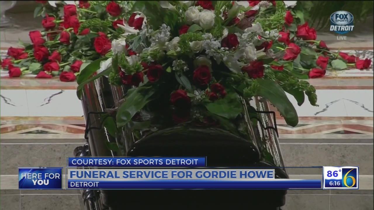 Gordie Howe funeral: Tears and laughter