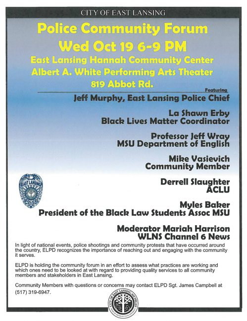 East Lansing Police Department Community Forum_192938