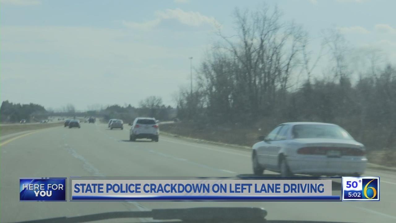 Left lane driving crackdown