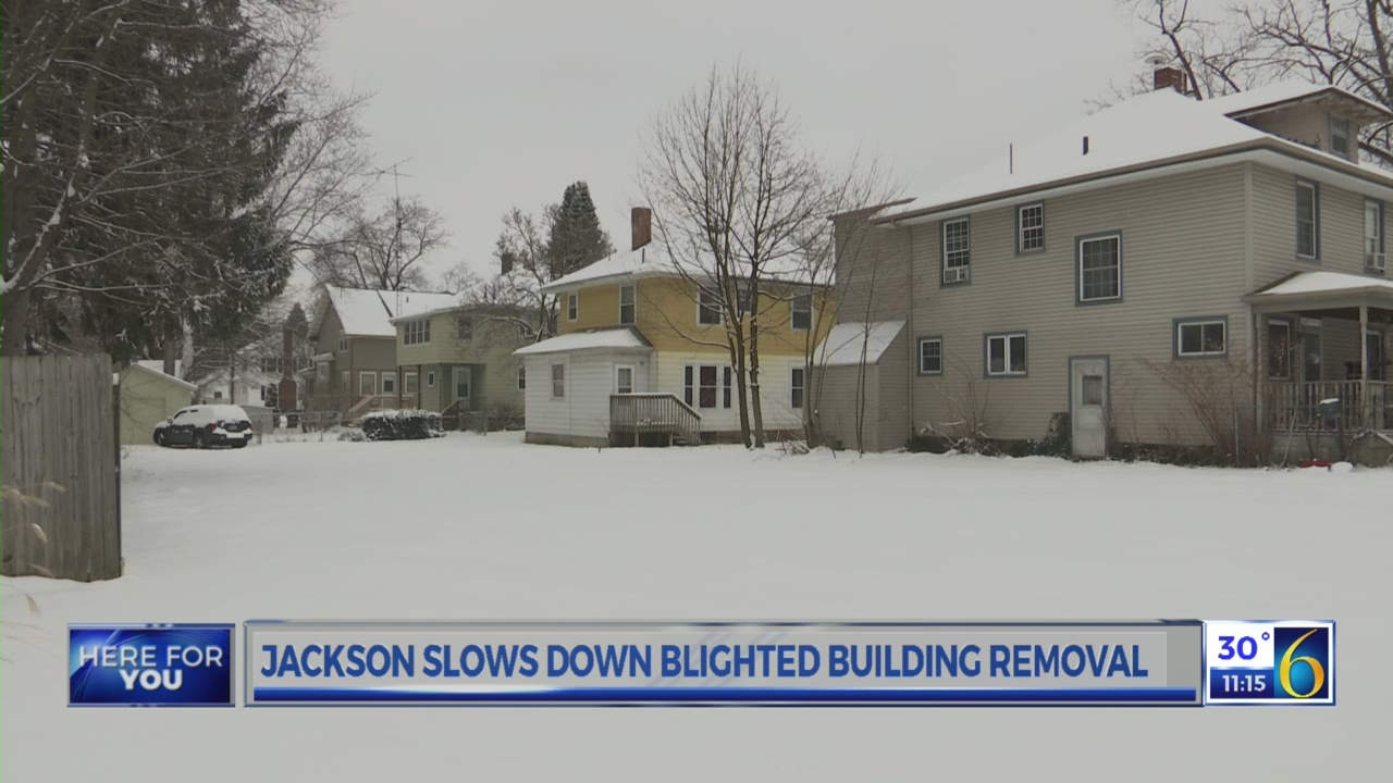 Jackson slows blighted building removals