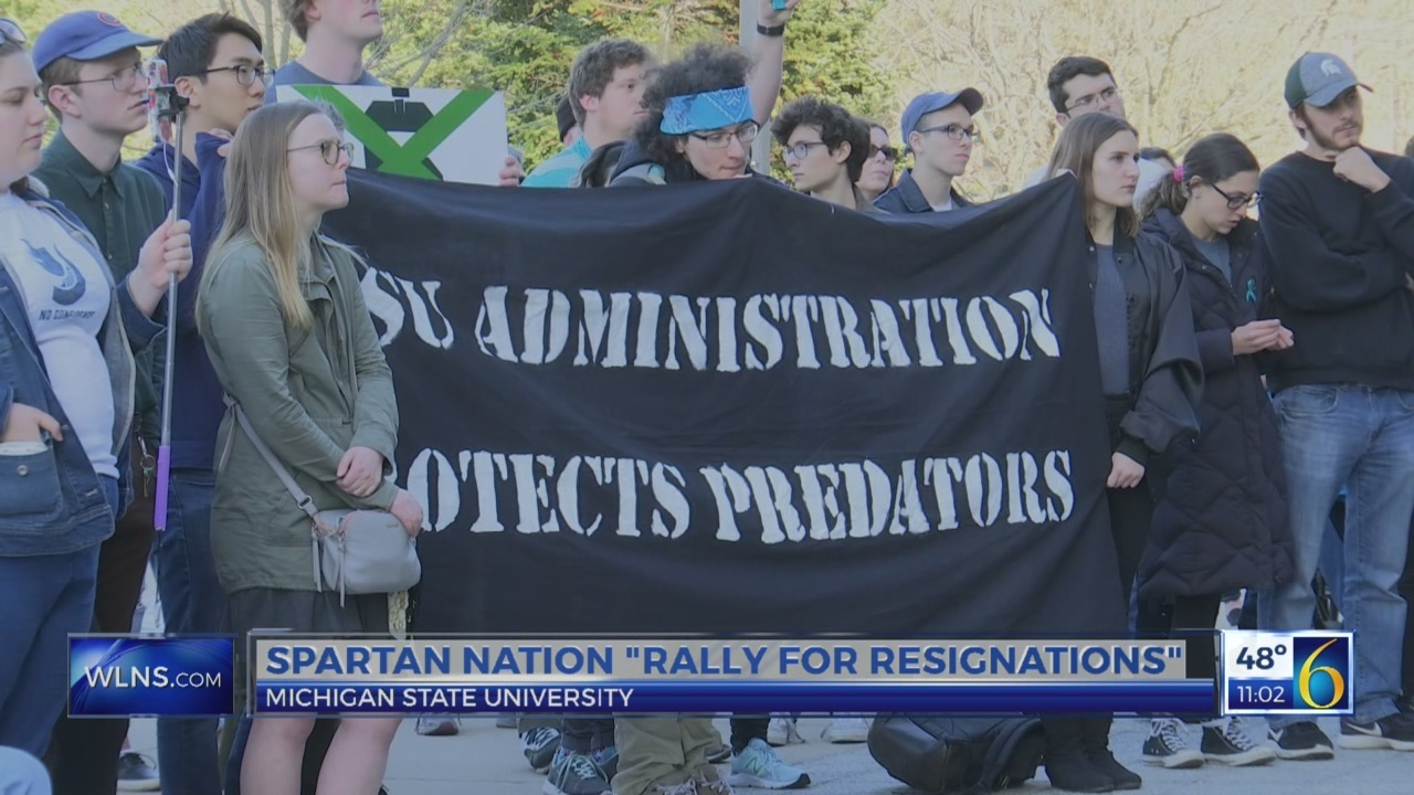 """Spartan community """"rally for resignations"""""""