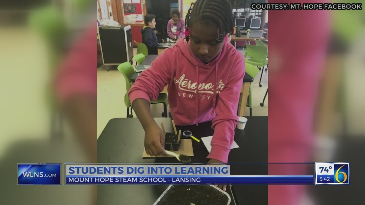 Students dig into learning