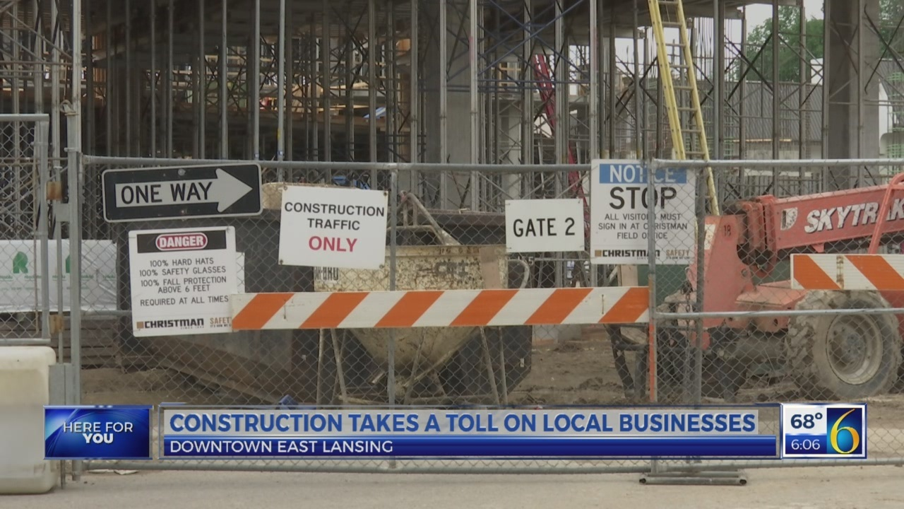 Construction takes a toll on downtown East Lansing businesses