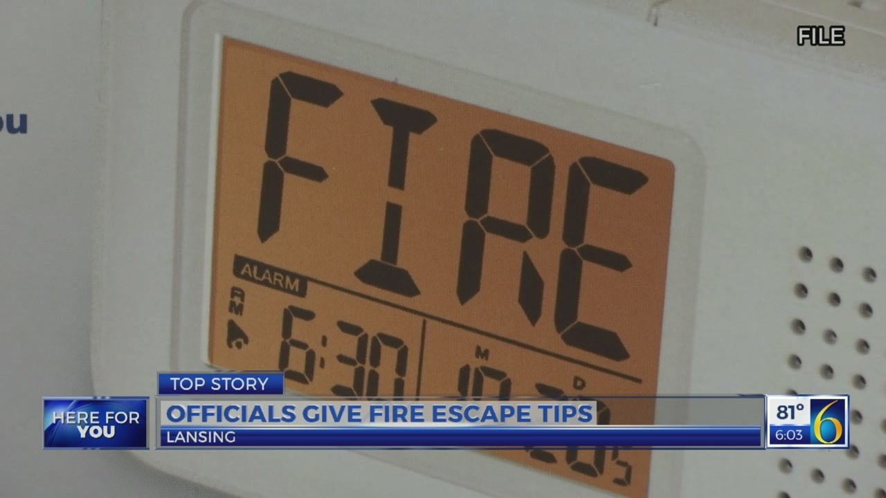 Fire escape tips