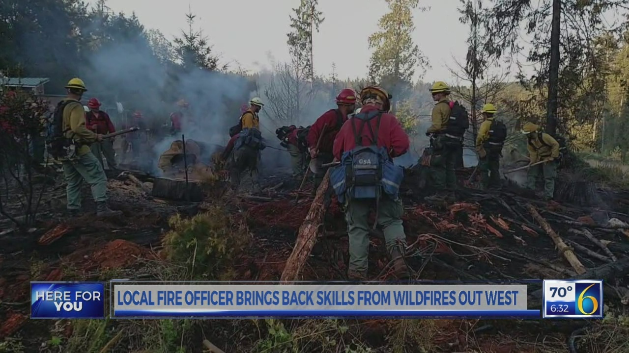 6 News This Morning: dnr fire officer travels west