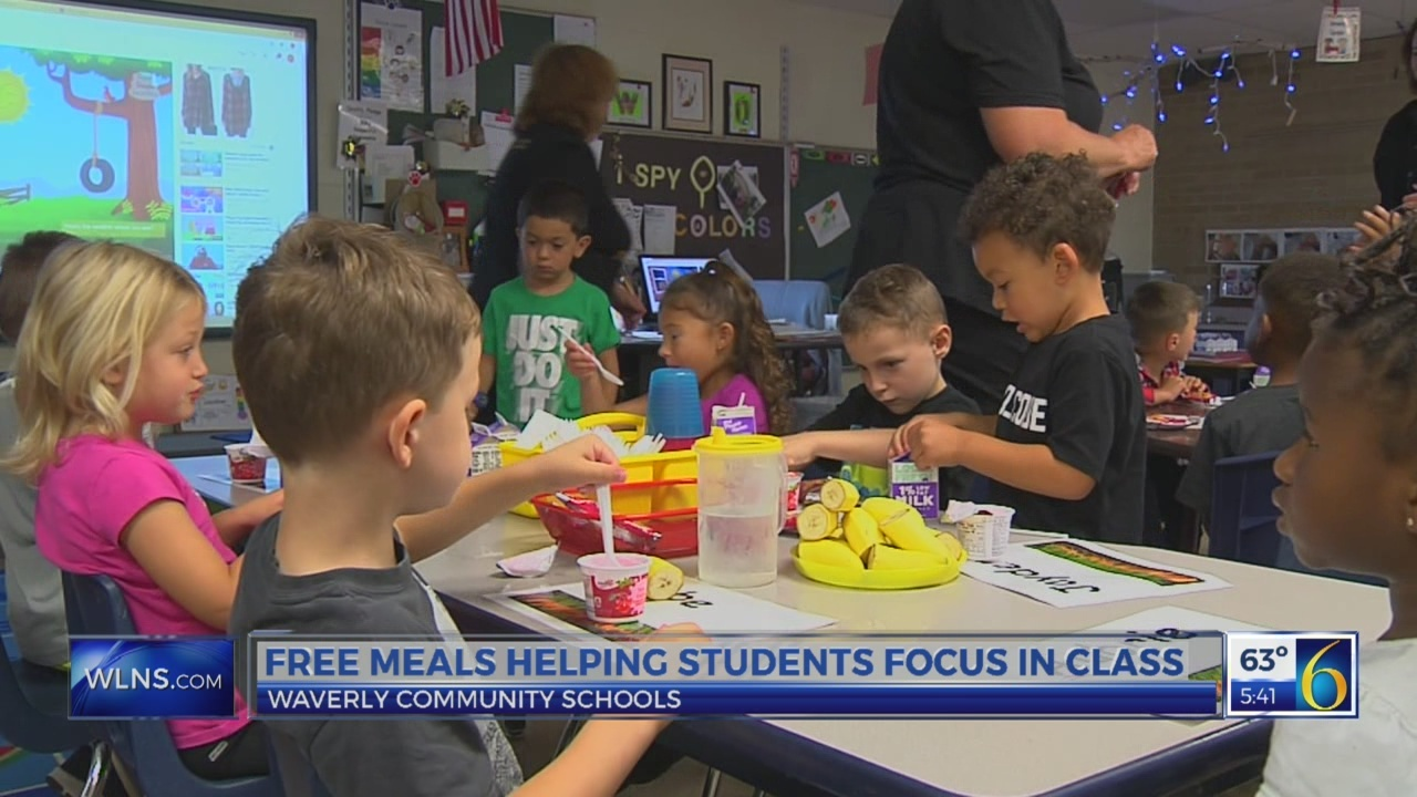 6 News at 5:00 a.m. waverly schools free lunch
