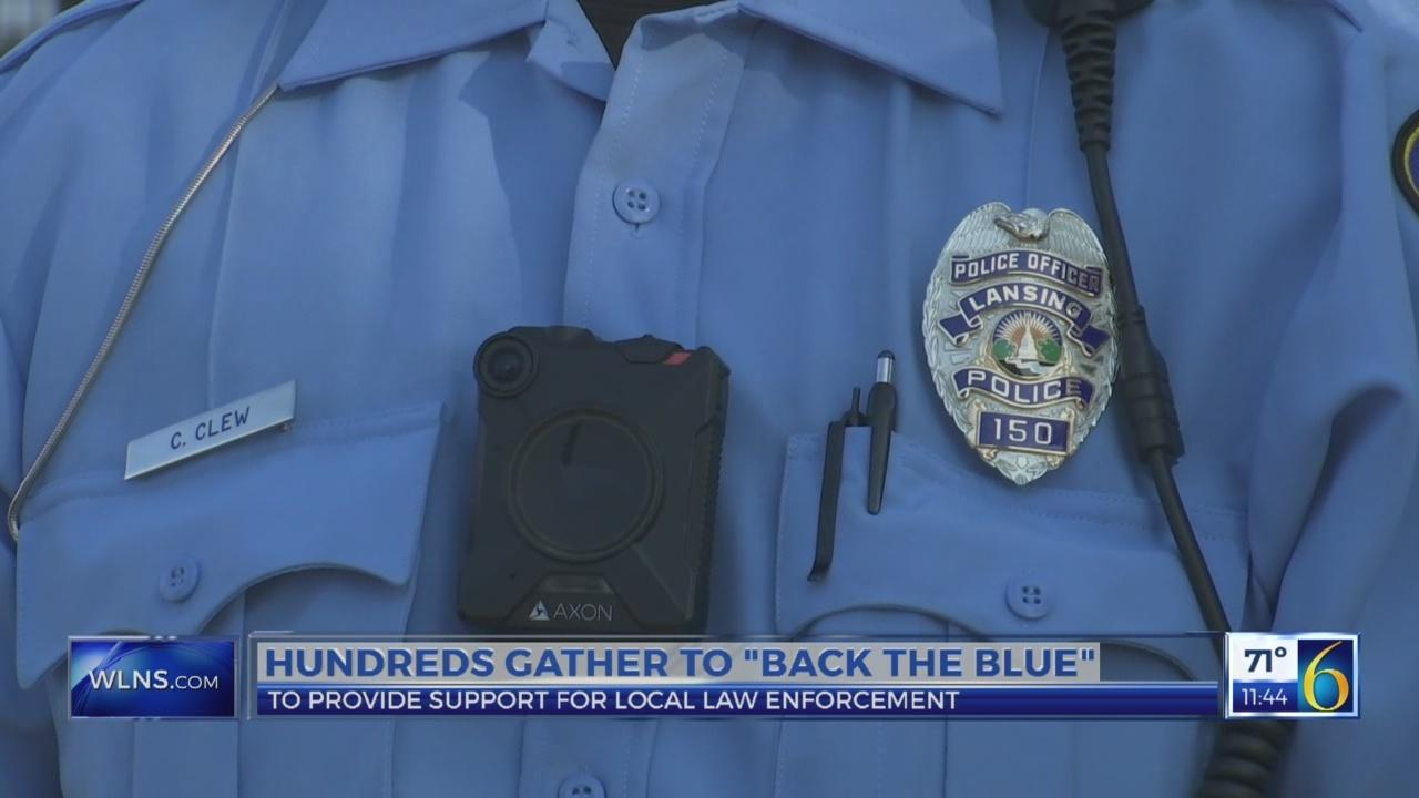 "Hundreds gather to ""Back the Blue"""