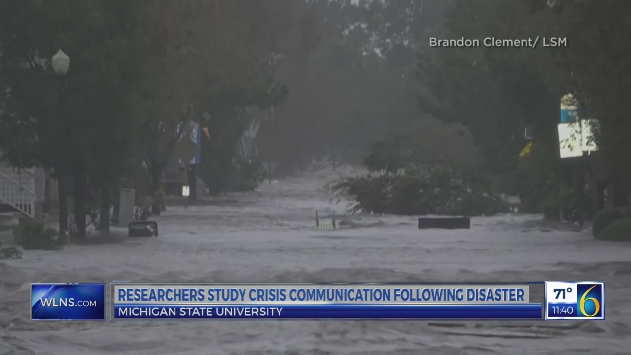 Researchers study crisis communication following disaster