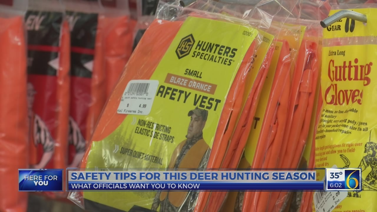 Safety tips for deer hunting season