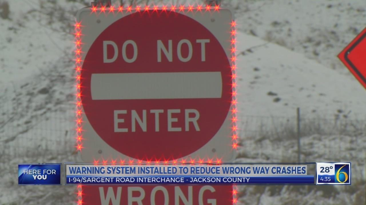 6 News This Morning: wrong way warning system