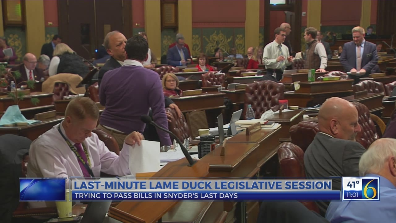 Last minute lame duck