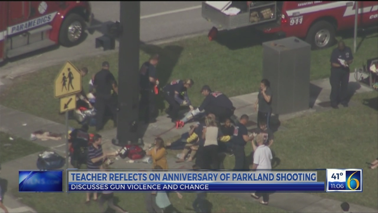 Teacher reflects on Parkland shooting