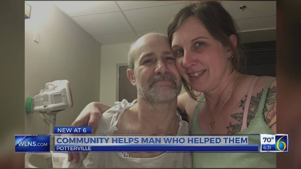 Community helps man who helped them