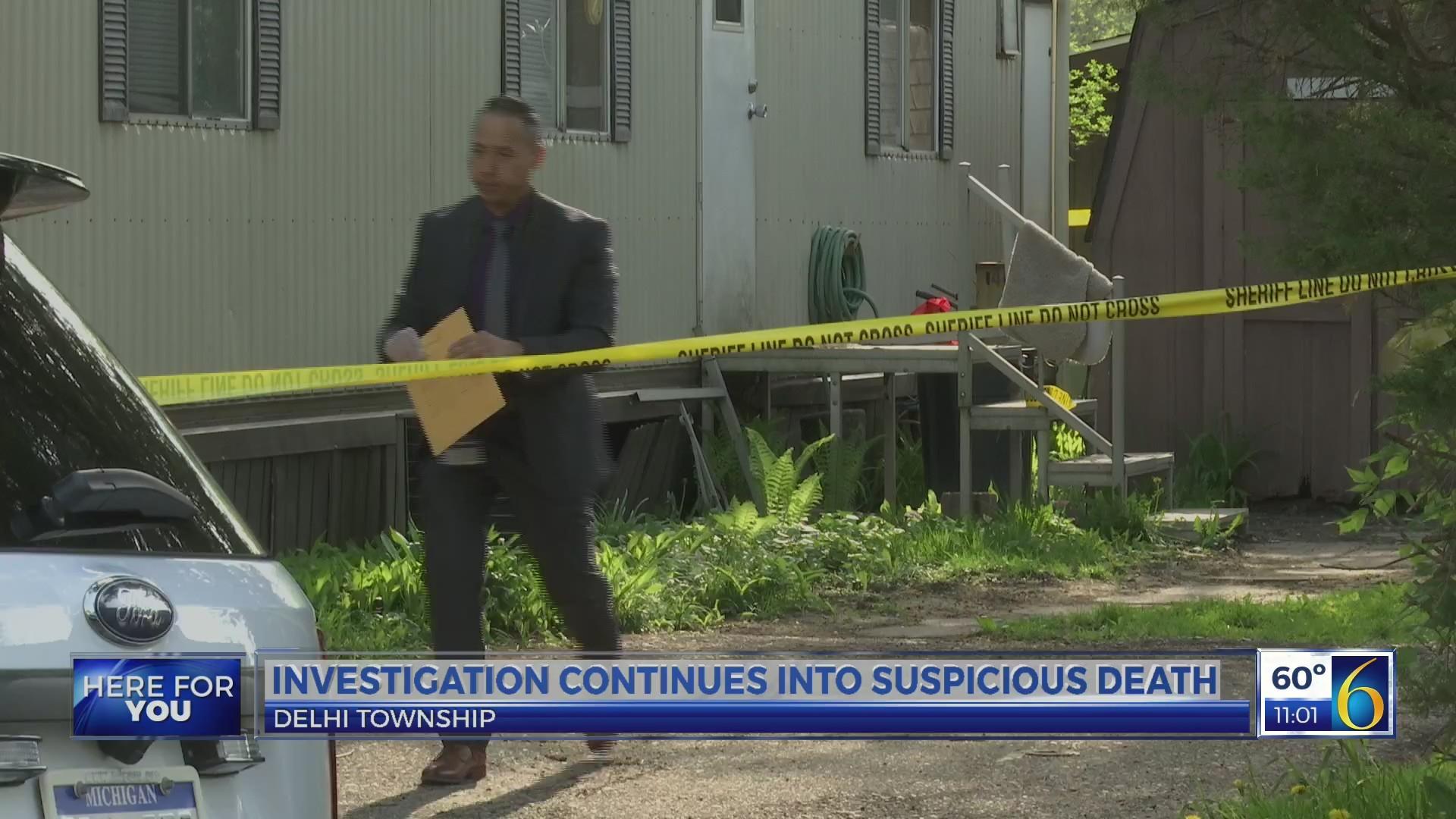 Investigation continues into suspicious death