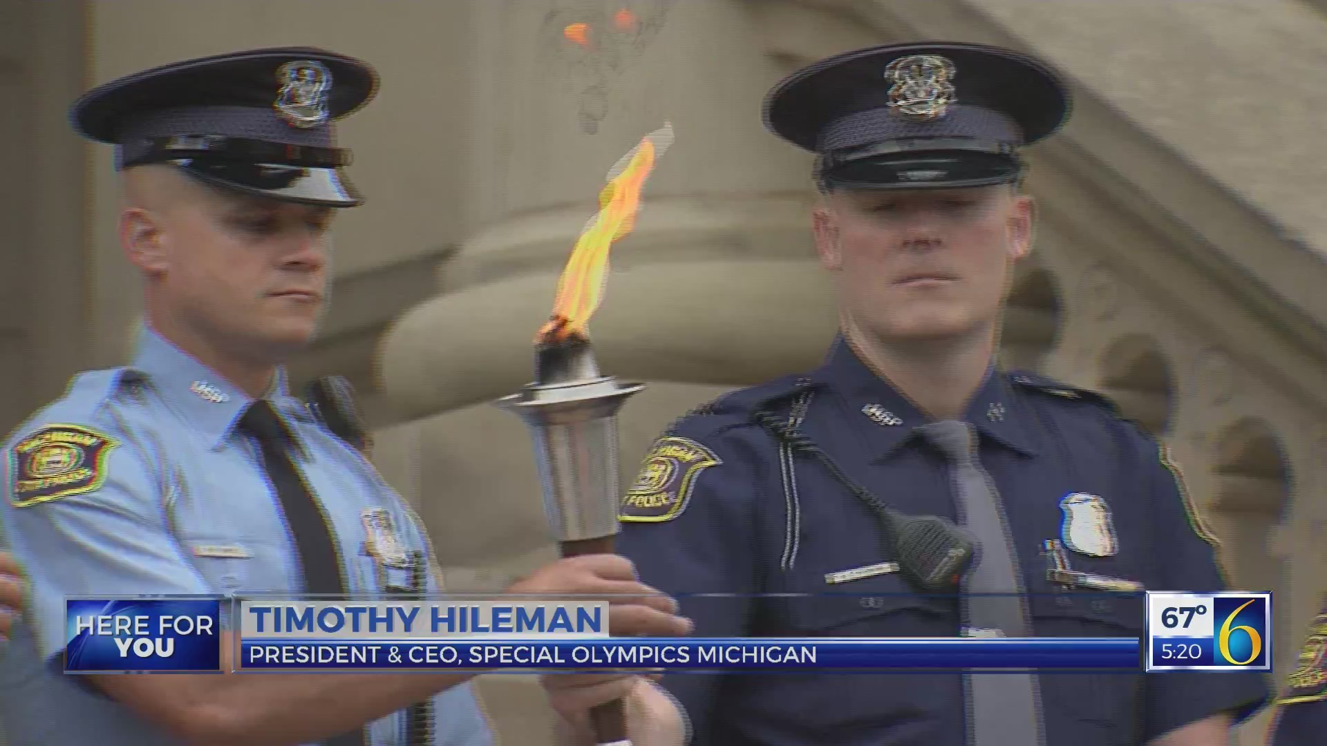 Special Olympics torch run begins