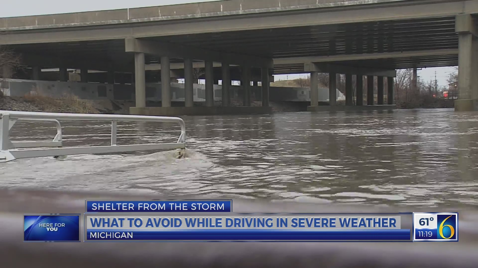 What to avoid while driving in severe weather