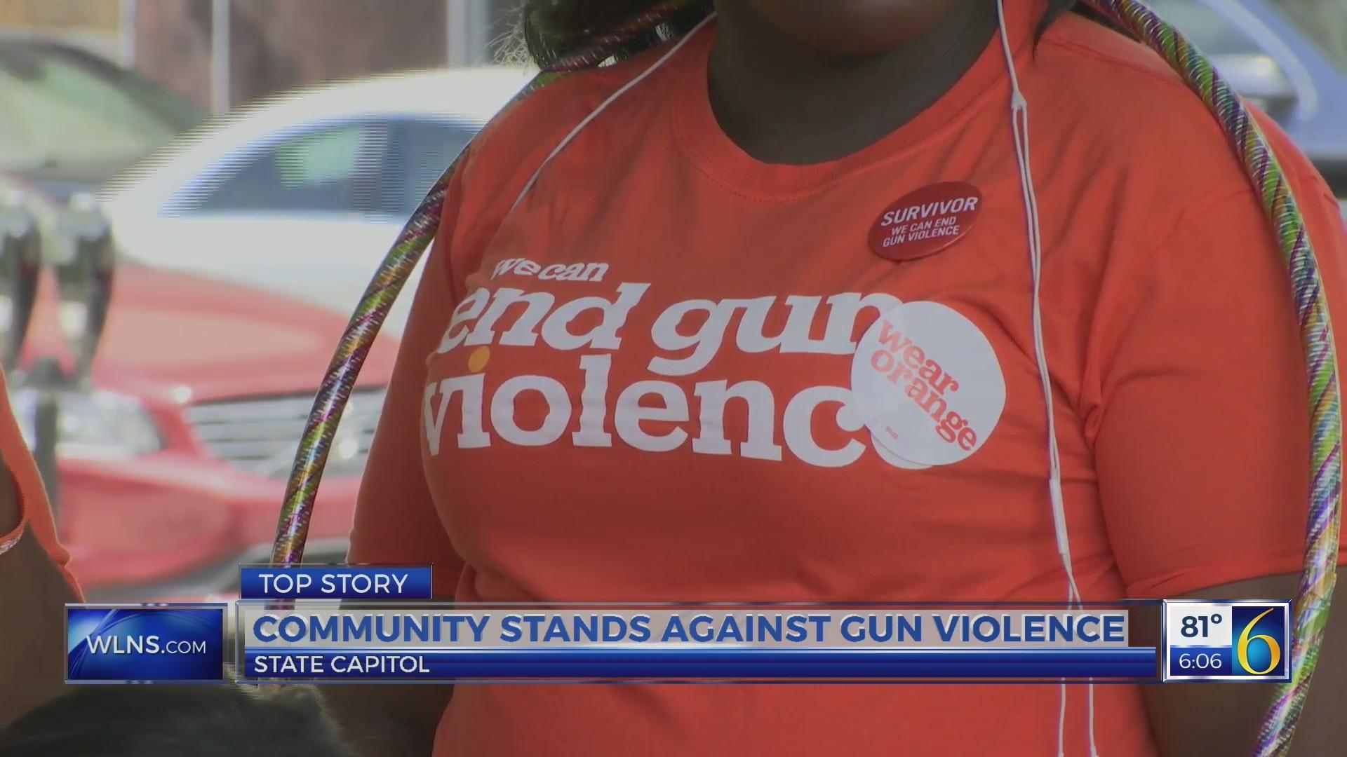 Community stands against gun violence