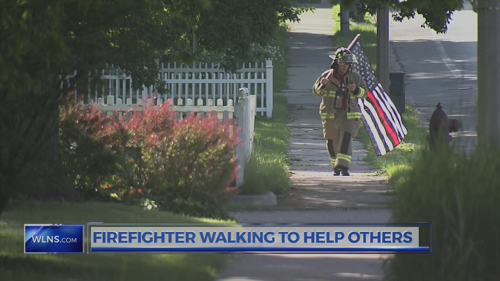Firefighter walks across Michigan