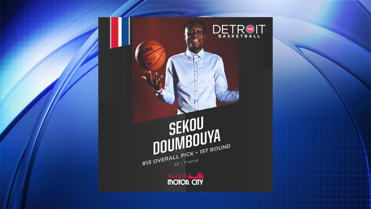 6aa575c0 Pistons pick Sekou Doumbouya in the first round of the 2019 NBA Draft