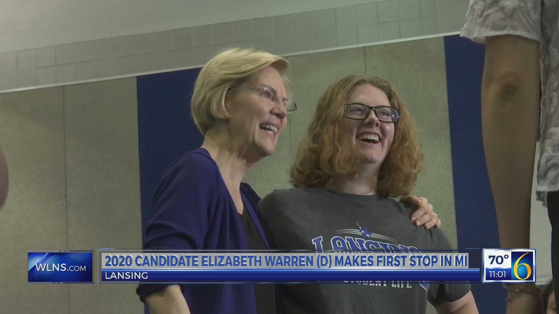 Sen. Elizabeth Warrens rolls out campign stop in Mid-Michigan