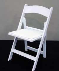 White Wood Resin Chair | Walker-Lewis Rents