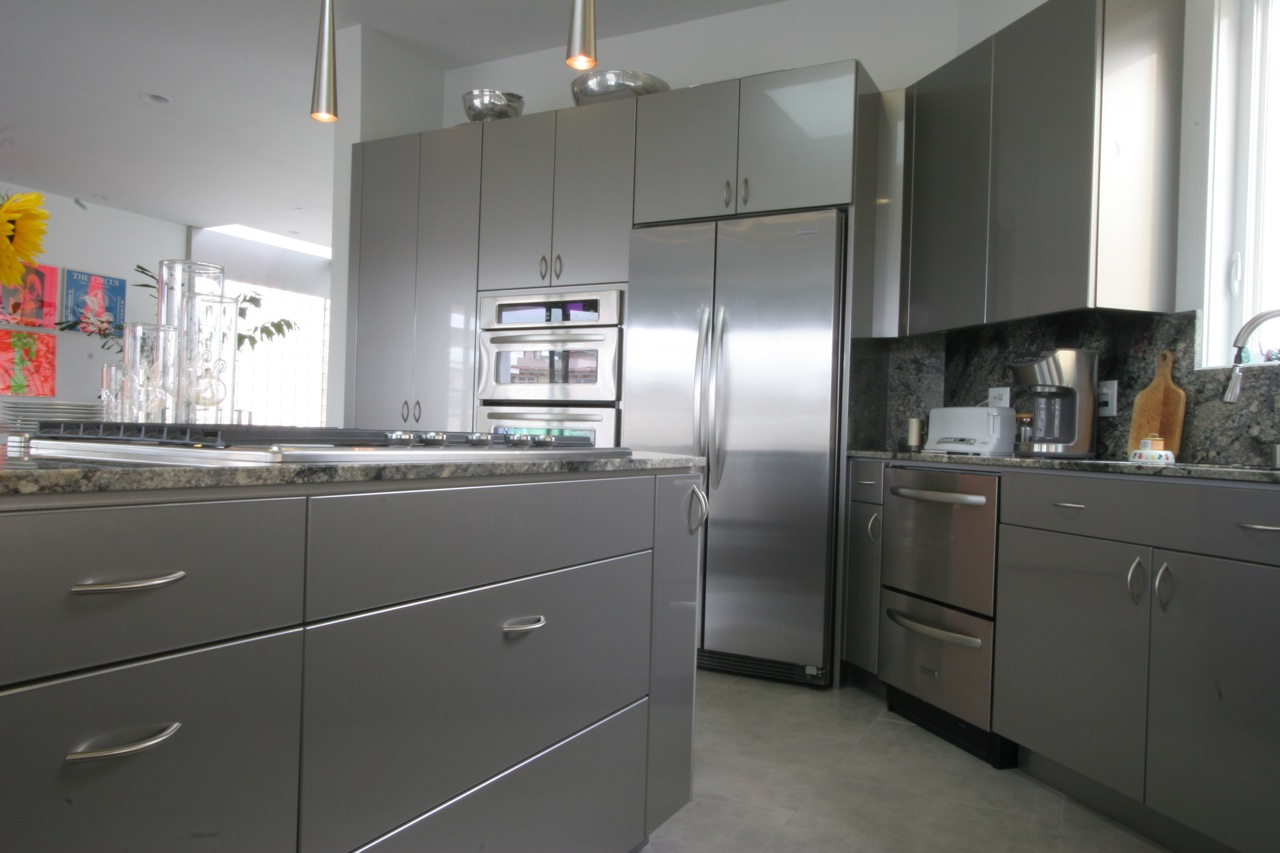 High Gloss Silver Cabinets  WL Rubottom Cabinets Co