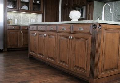 Hand Glazed Kitchen Cabinets