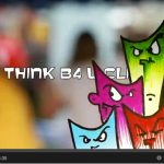 Screenshot of Think B4 U Click video on cyber bullying