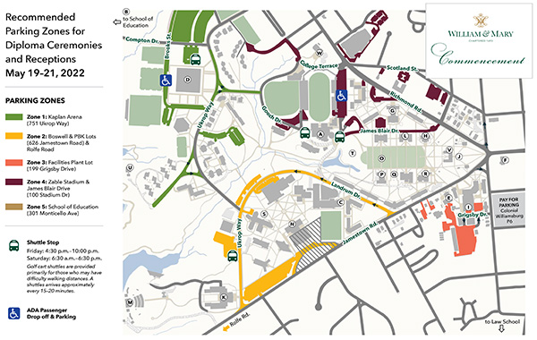 William And Mary Campus Map