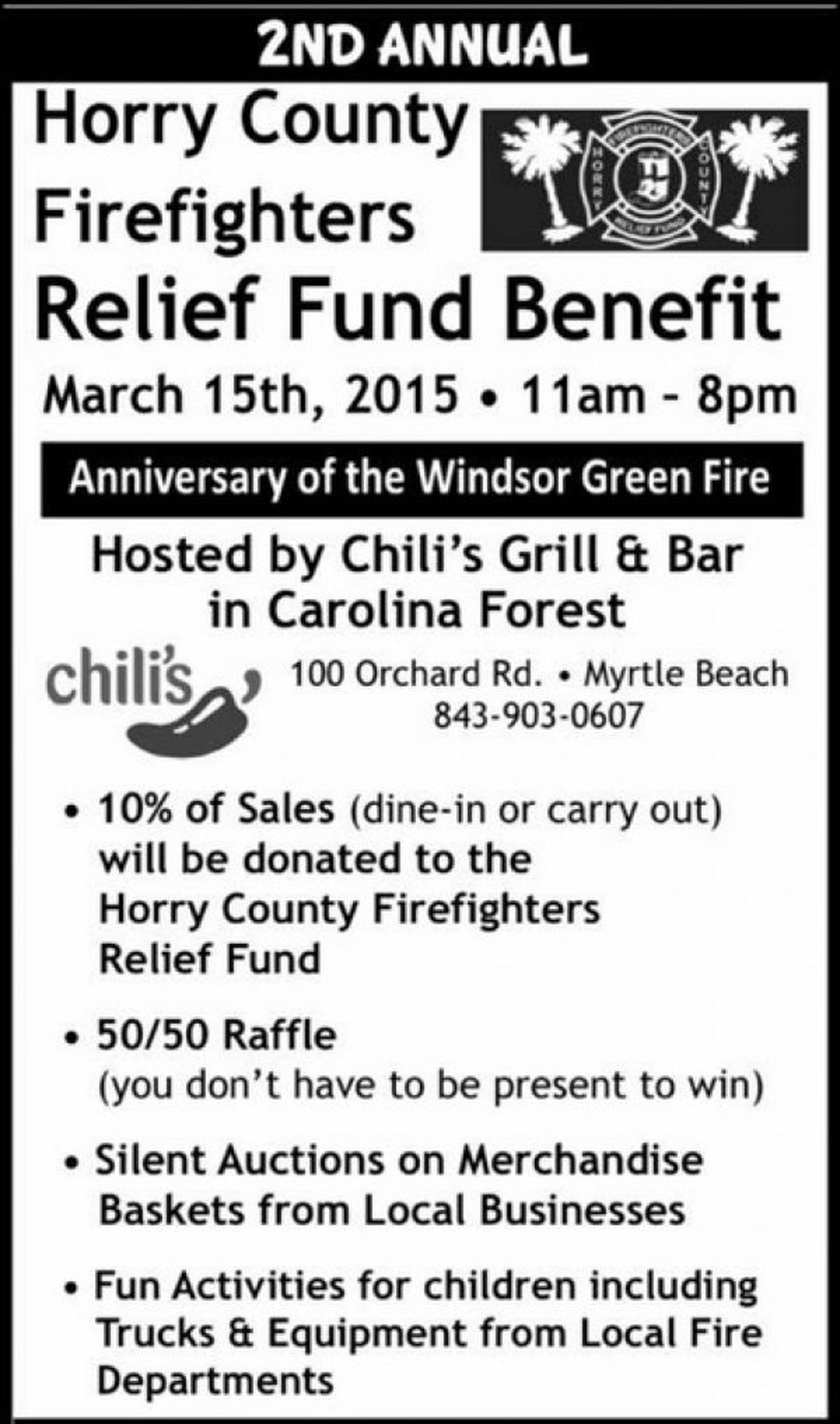 Firefighter Relief Fund benefit to be held on anniversary