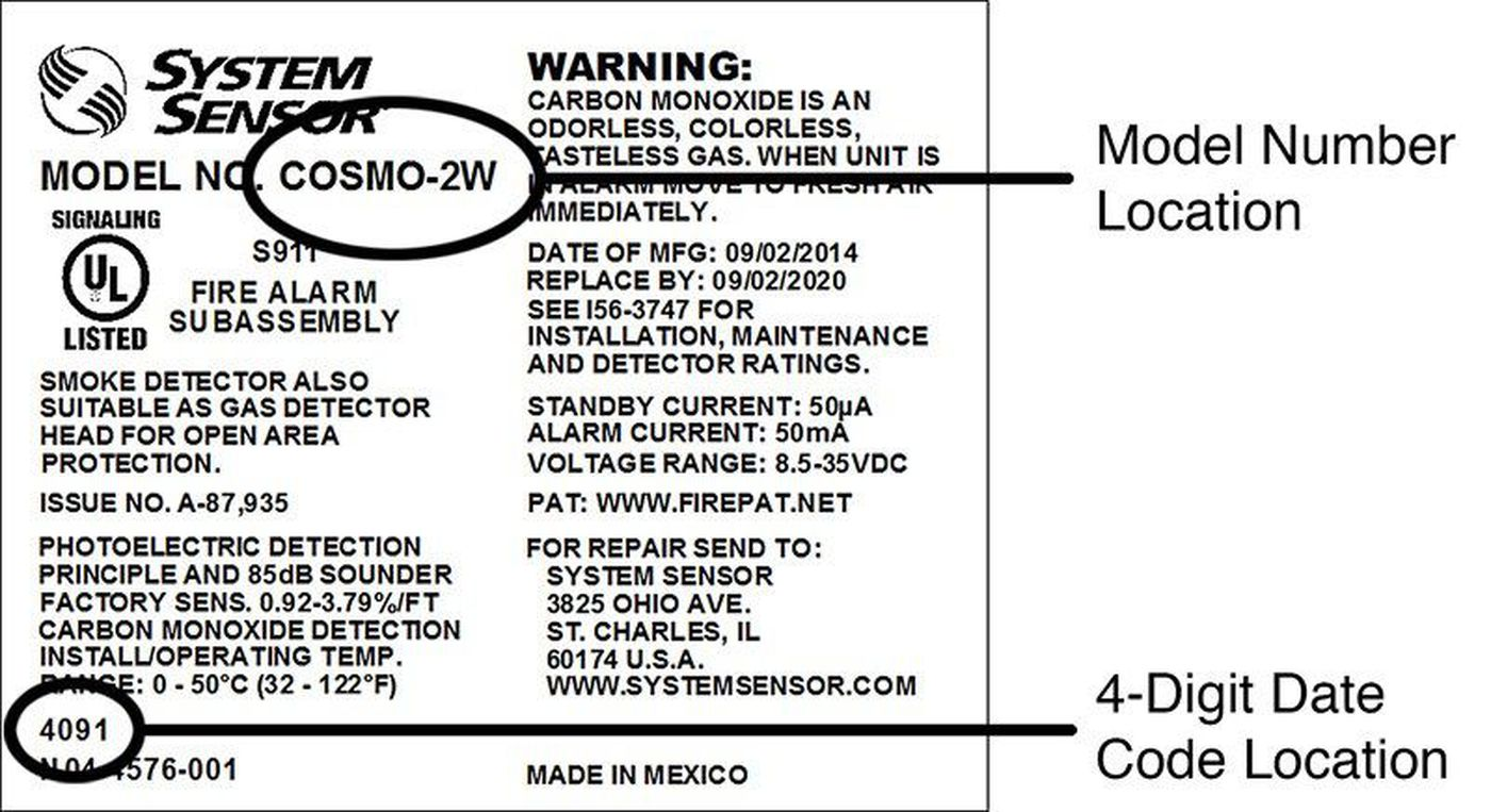 System Sensor smoke detectors recalled