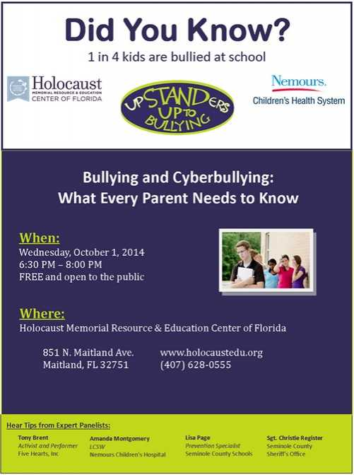 Stand Up to Bullying Event Flyer