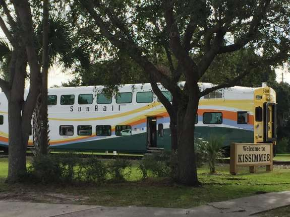 Federal officials signed an agreement to pay $93.4 million toward the total cost of adding four Sunrail stops. Photo: Renata Sago, WMFE.