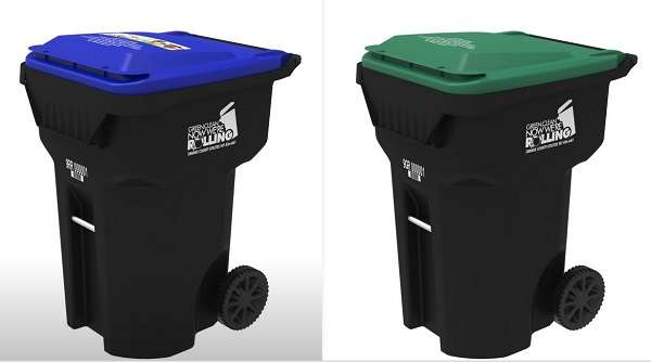 Orange County residents will receive two 95-gallon roll carts--one for garbage and another for recyclables. Photo: Orange County .