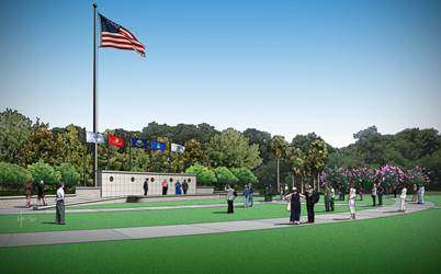 Illustration of the flag assembly area at the Cape Canaveral National Cemetery in Mims, Brevard County. Image: US Dept. of Veterans Affairs