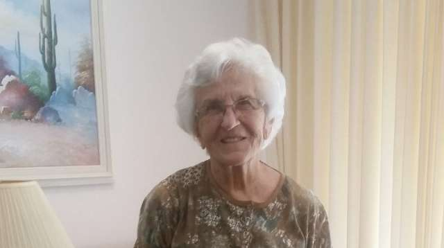 """Bette Jumper, 81, is a Westminster Winter Park resident, """"Music & Memory"""" participant, and Big Band music fan"""