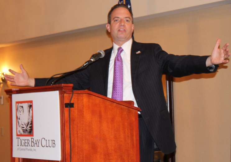 Republican National Committee chairman Reince Priebus is asking Florida Republicans to help expand the party by connecting with blacks and Latinos. Photo: Renata Sago, WMFE.