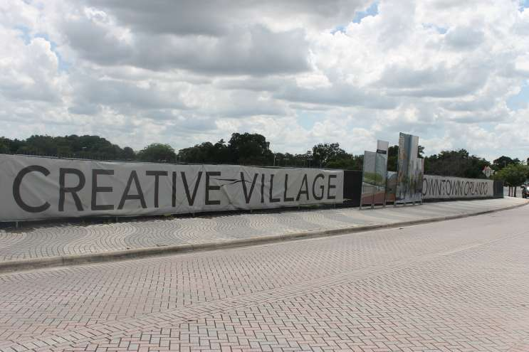 Creative Village, the site of UCF's proposed downtown Orlando campus. Photo- Matthew Peddie, WMFE
