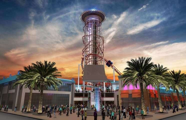 The Skyplex is slated to be the world's tallest roller coaster, at 570-feet high. Photo: Joshua Wallack.