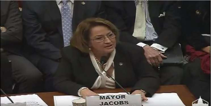 Mayor Teresa Jacobs speaks before lawmakers in Washington, D.C. Photo: Committee on Oversight & Government Reform.