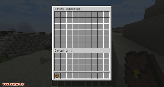 Simple Backpack mod for minecraft 02