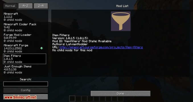 Item Filter mod for minecraft 09