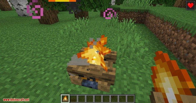 Healing Campfire mod for minecraft 04