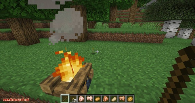 Campfire Torches mod for minecraft 09