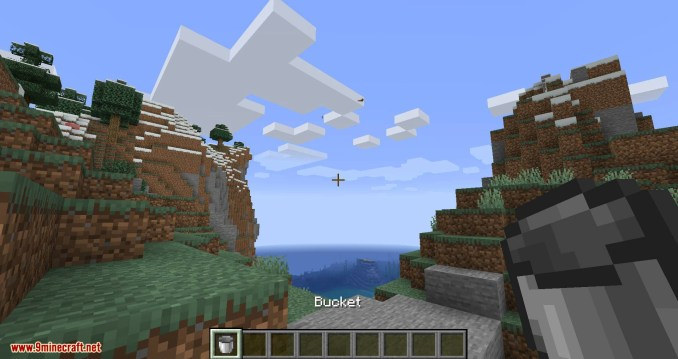 Get in the Bucket mod for minecraft 01